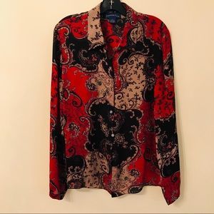 Charter Club Silk Blouse Size 12